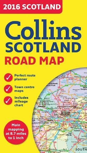 9780008102340: 2016 Collins Map of Scotland (Road Map)