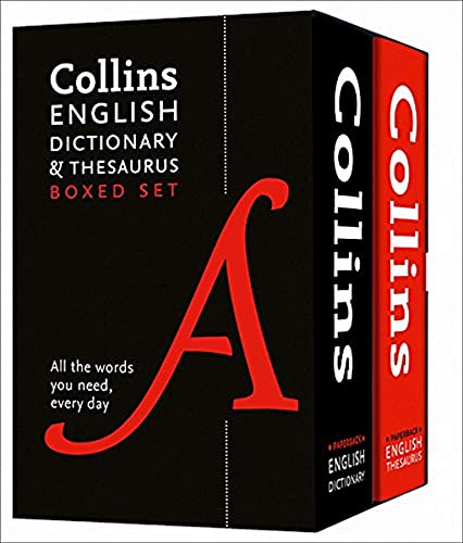 9780008102661: Collins English Dictionary and Thesaurus Boxed Set (Collins Dictionaries)