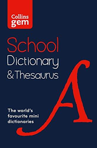 9780008102869: Collins School - Collins Gem School Dictionary & Thesaurus