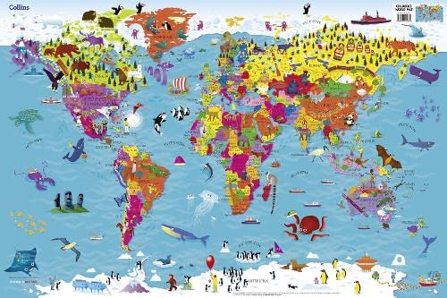 9780008114732: Collins Children's World Map