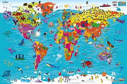 9780008114732: Collins Children's World Map