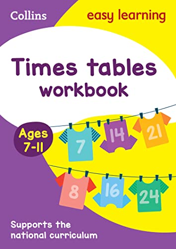 9780008134419: Collins Easy Learning Age 7-11 ? Times Tables Workbook Ages 7-11: New Edition