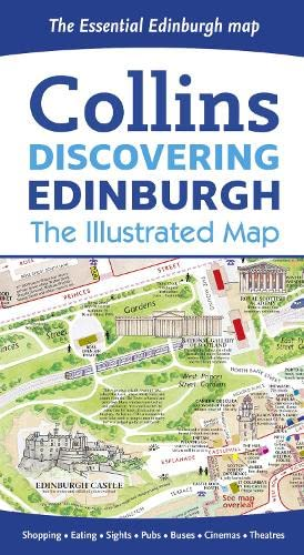 9780008136635: Discovering Edinburgh Illustrated Map 2016***