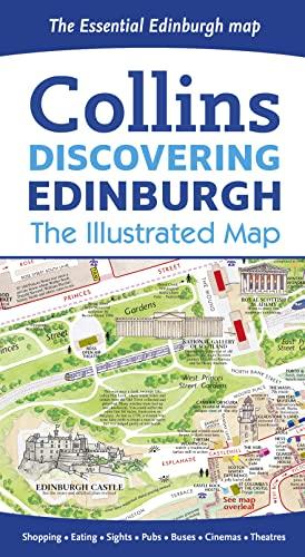 9780008136635: Discovering Edinburgh Illustrated Map 2016***