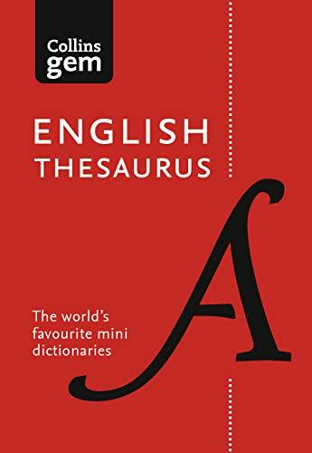 9780008141691: Collins Gem English Thesaurus (Collins Gem)