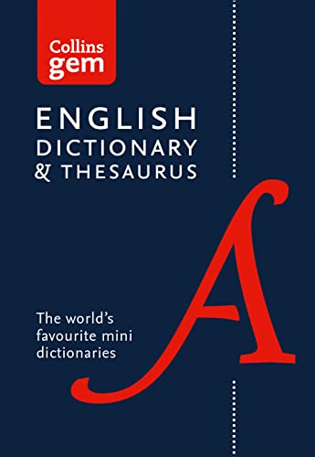 9780008141714: Collins English Dictionary and Thesaurus Gem Edition: Two books-in-one mini format (Collins Gem)