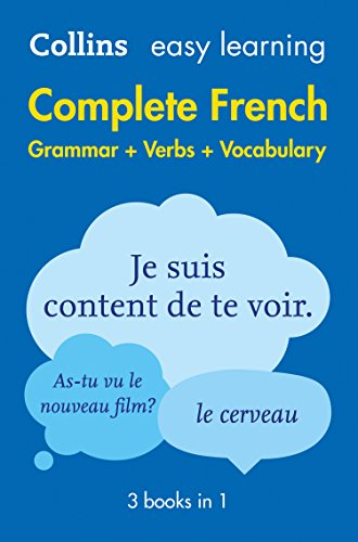 9780008141721: Complete French Grammar Verbs Vocabulary: 3 Books in 1 (Collins Easy Learning)