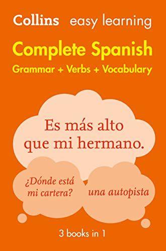9780008141738: Easy Learning Complete Spanish Grammar, Verbs and Vocabulary (3 books in 1) (Collins Easy Learning Spanish)