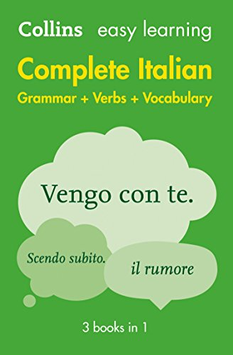 9780008141752: Complete Italian Grammar Verbs Vocabulary: 3 Books in 1 (Collins Easy Learning)