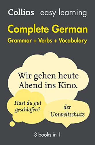 9780008141783: Complete German Grammar Verbs Vocabulary: 3 Books in 1 (Collins Easy Learning)