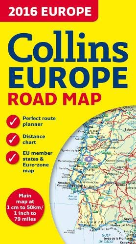 9780008146368: 2016 Collins Road Map of Europe 1:5M