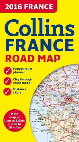 9780008146382: 2016 Collins Map of France 1:1.1M