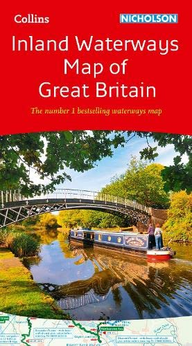 9780008146535: Collins Nicholson Inland Waterways Map of Great Britain