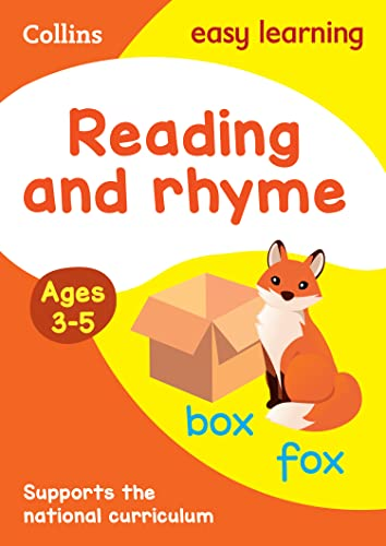 9780008151560: Collins Easy Learning Preschool - Reading and Rhyme Ages 3-5: New Edition