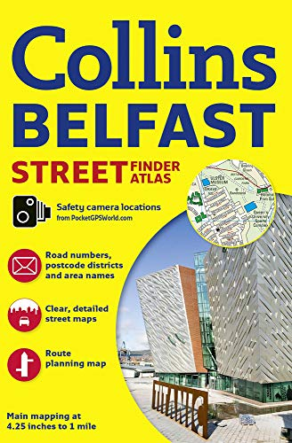 9780008211554: Belfast Streetfinder Colour Atlas