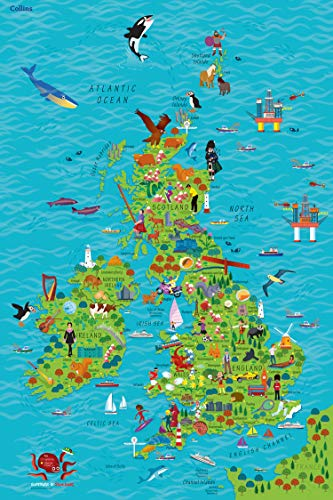 9780008212087: Children's Map of the United Kingdom and Ireland