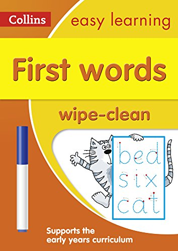 9780008212933: First Words Age 3-5 Wipe Clean Activity Book: Ideal for home learning (Collins Easy Learning Preschool)