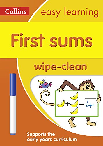 9780008212940: First Sums: Wipe-Clean Activity Book (Collins Easy Learning Preschool)