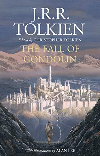 Beispielbild für THE FALL OF GONDOLIN Signed First Edition plus Bookmark (Signed by Illustrator Alan Lee) - zum Verkauf von Anderida Books