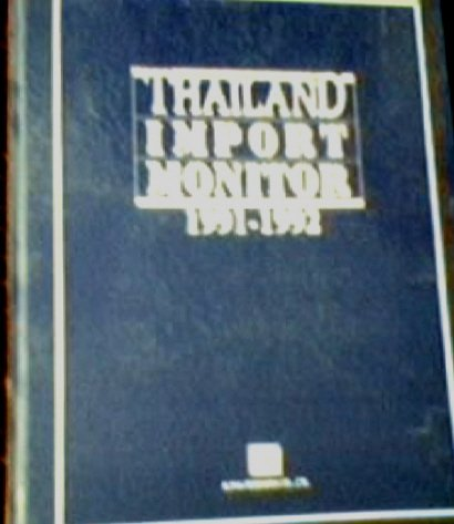 9780008581701: Thailand Import Monitor 1991-1992