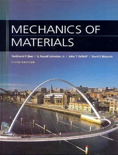 9780009369599: Mechanics of Materials (5th, Fifth Edition) - By Beer, Johnston Jr., DeWolf, & Mazurek