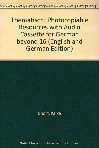 9780009553929: Thematisch: Photocopiable Resources with Audio Cassette for German beyond 16 (English and German Edition)
