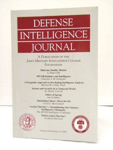 9780010616842: Defense Intelligence Journal