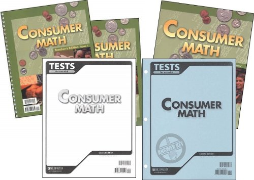 9780012106945: BJU Consumer Math Subject Kit--Worktext, Teacher with CD, Tests, and Test Keys