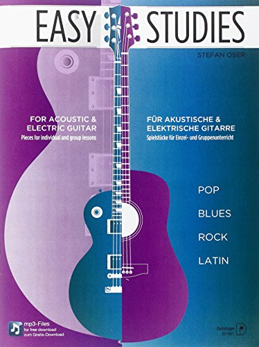 9780012203132: Easy Studies: Pop Blues Rock Latin für akk.u.elektr.Gitarre