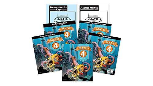 9780012516577: BJU Math 4 Subject Kit--Worktext, Teacher with CD, Manipulative Kit, Reviews, Tests, and Keys