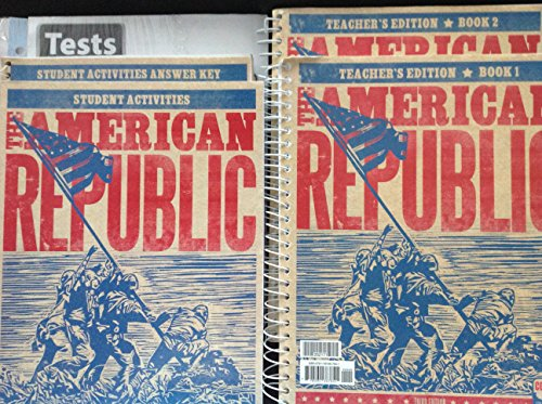 9780012516676: BJU American Republic gr 8 Subject Kit--Text and Teacher with CD, Activity Manual and Key, Tests and Keys