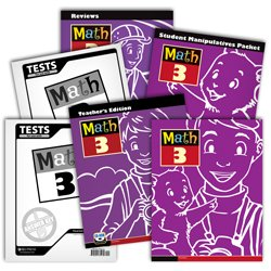 9780012517314: BJU Math 3 Subject Kit--Worktext, Teacher with CD, Manipulative Kit, Reviews Activity, Tests, and Keys