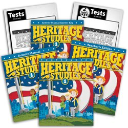 9780012734841: Heritage Studies 1 Subject Kit--Text and Teacher, Activities Manual with Key, Tests and Keys