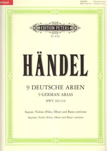 9780014071166: 9 German Arias Hwv 202-210 Chant