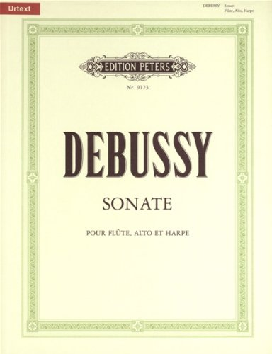 9780014073528: EDITION PETERS DEBUSSY CLAUDE - SONATA FOR VIOLA, FLUTE & HARP - VIOLA(S) AND OTHER INSTRUMENTS Partition classique Cordes Alto