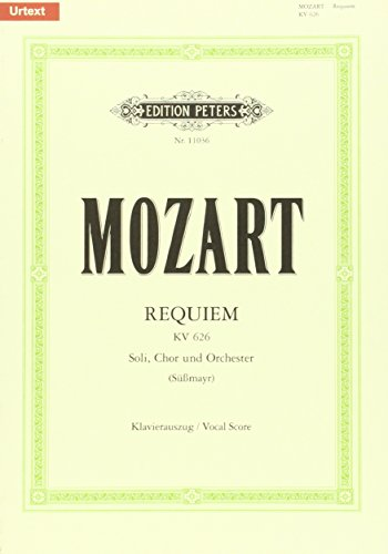 9780014107865: Requiem K626 (vocal score) Urtext