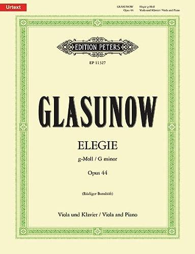 9780014111480: Elegie g-Moll op. 44: F�r Viola und Klavier