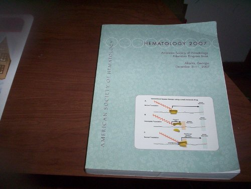 9780015204396: HEMATOLOGY 2007 (Education Program Book)