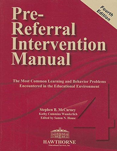 9780015617004: Pre-Referral Intervention Manual