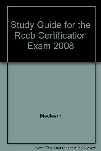 9780015787011: Study Guide for the Rccb Certification Exam 2008