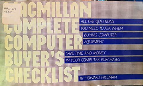 9780020082606: Macmillan complete computer buyer's checklist