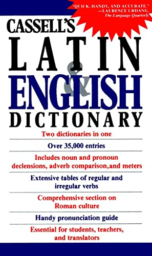 Cassell's Concise Latin-English, English-Latin Dictionary 9780020133407 The greatest name in foreign language dictionaries is Cassell, the preeminent publisher of dictionaries for over 120 years. For fast, ea