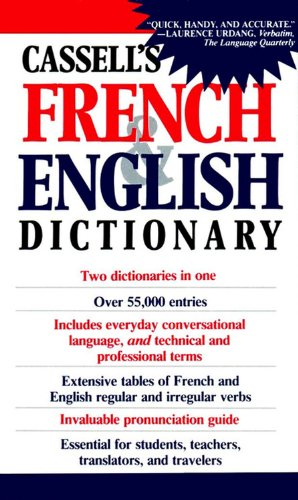 Cassell's French & English Dictionary 9780020136804 The greatest name in foreign language dictionaries is Cassell, the preeminent publisher of dictionaries for over 120 years. For fast, ea