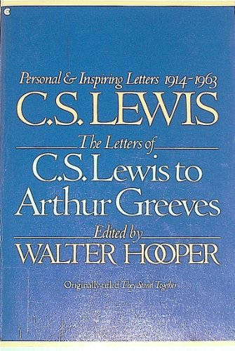9780020223405: The Letters of C.S. Lewis to Arthur Greeves, 1914-1963
