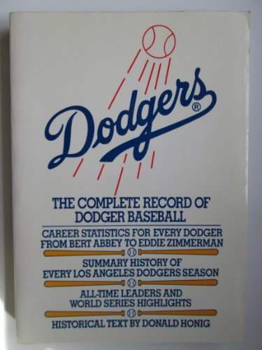 9780020283805: Dodgers: The Complete Record of Dodgers Baseball