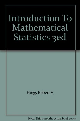 9780020355670: Introduction To Mathematical Statistics 3ed