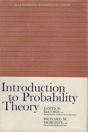 9780020378570: Introduction to Probability Theory (Allendoerfer Mathematics Series)