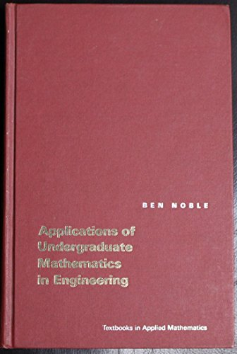 9780020387169: Applications of Undergraduate Mathematics In Engineering