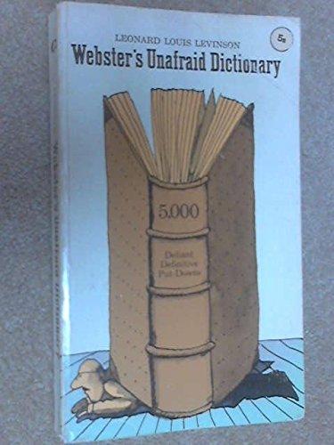 9780020405405: Webster's Unafraid Dictionary