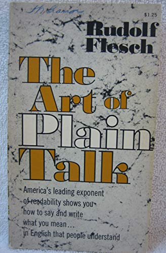 9780020463801: The Art of Plain Talk